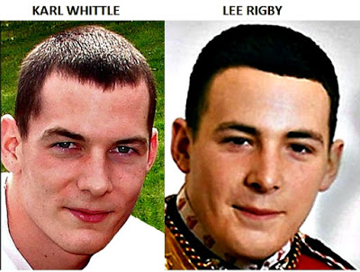 Look at the false hair photo shopped on, so called, Lee Rigby's head!